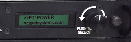 built-in screen controls PDU features from the front of the UPS
